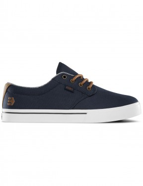 Etnies Jameson 2 Eco Trainers in Navy/Brown/White