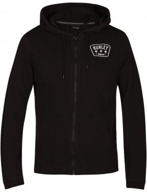 Hurley Beach Club Destroy 17Th St Full Zip Fleece in Black