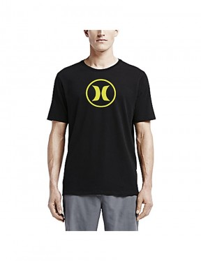 Hurley Circle Icon Dri Fit Short Sleeve T-Shirt in Black