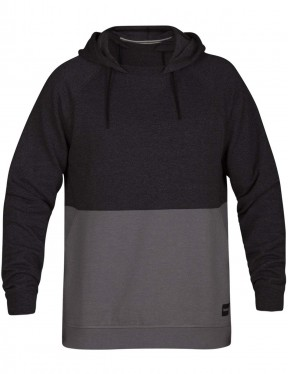 Hurley Crone Blocked Sweatshirt in Black Heather