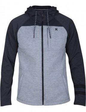 Hurley Therma Protect Plus Full Zip Fleece in Dark Grey Heather