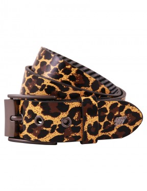 Lowlife Adder Leather Belt in Leopard