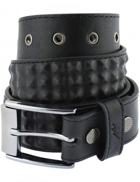 Lowlife Cover Up Leather Belt in Black