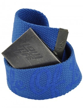 Lowlife Strapped Webbing Belt in Royal Blue