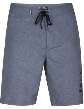 Hurley One & Only Heather 2.0 Mid Length Boardshorts in Black