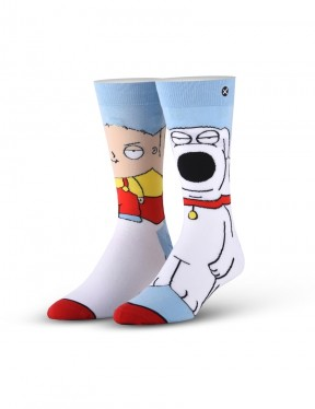 Odd Sox Stewie & Brian 360 Crew Socks in Multi