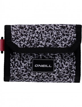 ONeill Pocketbook Polyester Wallet in Black Aop W/ White