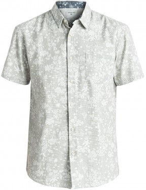 Quiksilver Bloomfield Diver Short Sleeve Shirt in Tarmac Pyramid