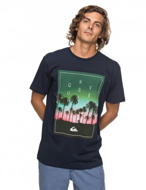 Quiksilver Classic Salina Stars Short Sleeve T-Shirt in Navy Blazer
