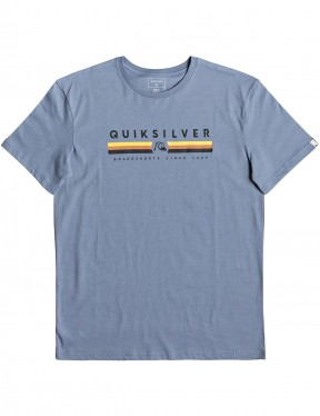 Quiksilver Get Bizzy Short Sleeve T-Shirt in Stone Wash