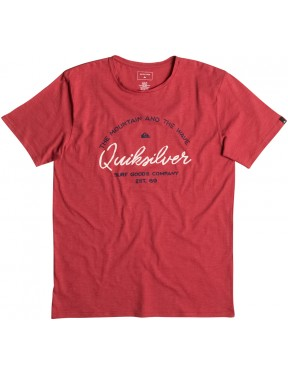 Quiksilver Hero Bay Short Sleeve T-Shirt in Cardinal