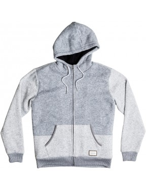 Quiksilver Keller Sherpa Hoody in Light Grey Heather