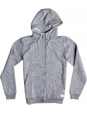 Quiksilver Keller Zipped Hoody in Light Grey Heather