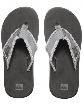 Quiksilver Monkey Abyss Flip Flops in Grey Black Brown