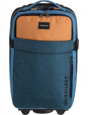 Quiksilver New Horizon Wheeled Luggage in Blue Nights Heather