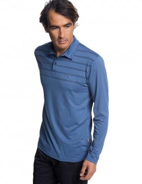 Quiksilver River Explorer Polo Shirt in Orion Blue Heather