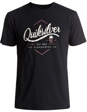 Quiksilver Sea Tales Classic Short Sleeve T-Shirt in Black