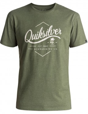 Quiksilver Sea Tales Classic Short Sleeve T-Shirt in Four Leaf Clover Heather
