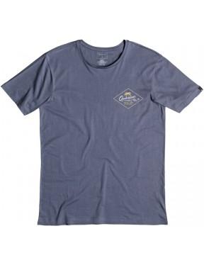 Quiksilver Volcano Short Sleeve T-Shirt in Nightshadow Blue