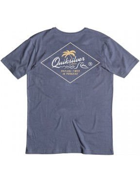 Quiksilver Volcano Short Sleeve T-Shirt in Nightshadow Blue