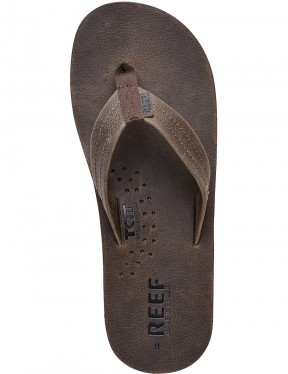 Reef Draftsmen Leather Sandals in Chocolate