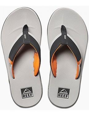 Reef Fanning Low Flip Flops in Grey/Orange