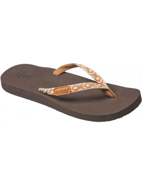 Reef Ginger Flip Flops in Brown/Peach
