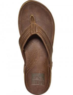 Reef J-Bay III Leather Sandals in Bronze Brown
