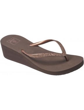 Reef Krystal Star Flip Flops in Bronze