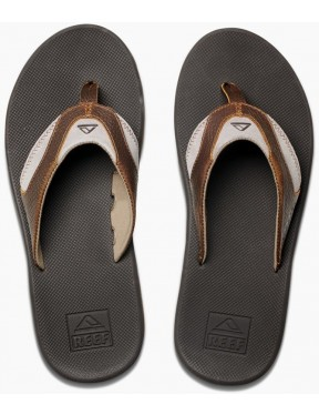 Reef Leather Fanning Leather Sandals in Brown/Brown 4