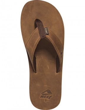 Reef Leather Smoothy Leather Sandals in Bronze Brown