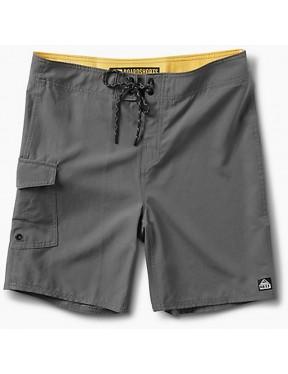 Reef Lucas 3 Shortie Short Boardshorts in Grey