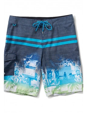 Reef Maine Mid Length Boardshorts in Blue