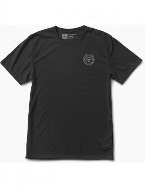 Reef Surfari's Surf Short Sleeve T-Shirt in Black/White