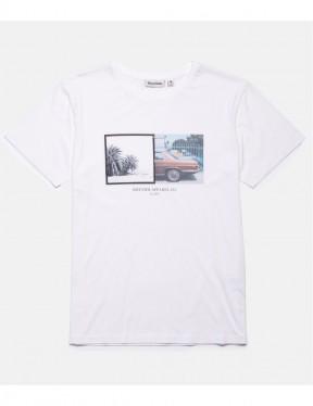 Rhythm Contax Short Sleeve T-Shirt in White