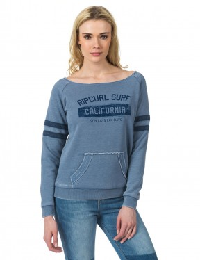 Rip Curl Broome Fleece Sweatshirt in Flint Stone