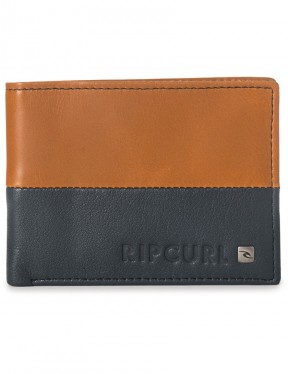Rip Curl Cut And Sew RFID All Day Leather Wallet in Brown