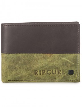 Rip Curl Cut And Sew RFID All Day Leather Wallet in Navy