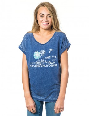 Rip Curl Encanto Short Sleeve T-Shirt in Blue Depths