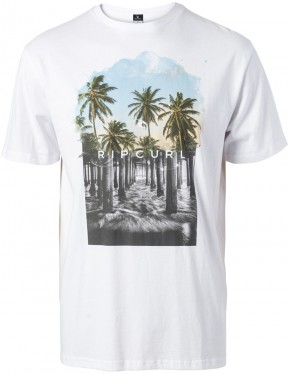 Rip Curl Good Day Bad Day Short Sleeve T-Shirt in Optical White