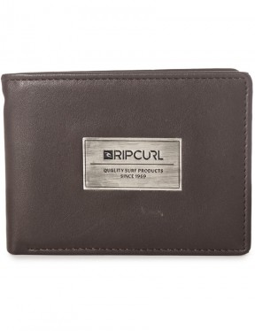 Rip Curl Heavy Metal Faux Leather Wallet in Brown