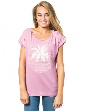 Rip Curl Moon Island Short Sleeve T-Shirt in Polignac Purple