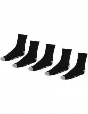 Rip Curl Ripcurl 5-Pack Crew Socks in Black