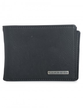 Rip Curl Rockered Faux Leather Wallet in Black