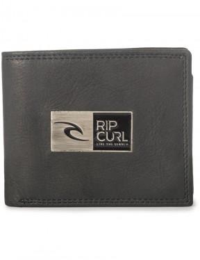 Rip Curl Stackawatu RFID 2 In 1 Leather Wallet in Black
