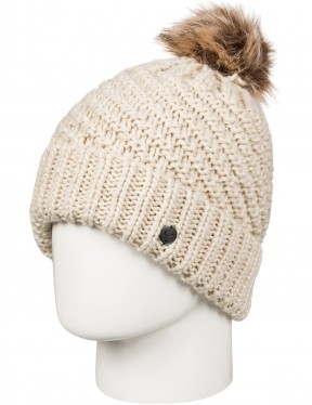 Roxy Blizzard Bobble Hat in Angora