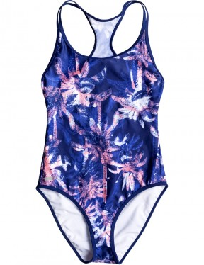 Roxy Keep It Roxy Swimsuit in Blue Depths Washed Palm