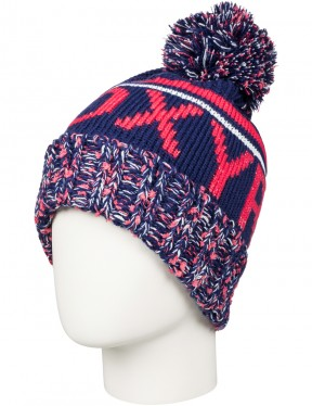 Roxy Tonic Beanie in Blue Print