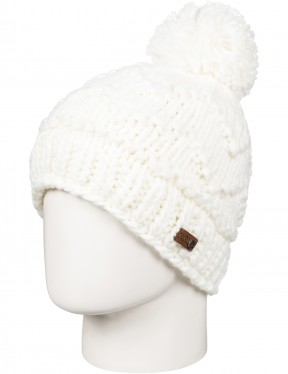 Roxy Winter Bobble Hat in Bright White
