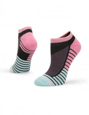 Stance Axis Low No Show Socks in Purple